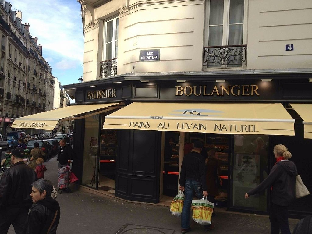 """Photo of Maison Landemaine - Poteau  by <a href=""""/members/profile/MaisonLandemaine"""">MaisonLandemaine</a> <br/>The front of the bakery, near by Jules Joffrin metro station <br/> April 18, 2017  - <a href='/contact/abuse/image/90605/249601'>Report</a>"""