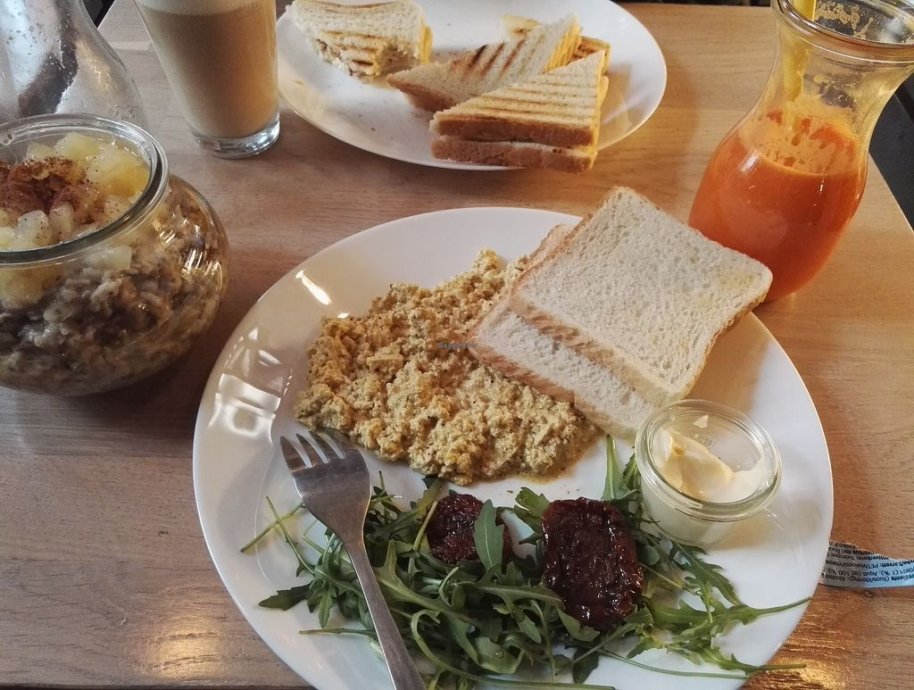 """Photo of Anima Cafe  by <a href=""""/members/profile/MarielK"""">MarielK</a> <br/>Good breakfast options for vegans! Oatmeal in a jar was yummy but scrambled tofu was the best ! Small but such a nice and cozy place. Recommended!  <br/> January 6, 2018  - <a href='/contact/abuse/image/90649/343641'>Report</a>"""