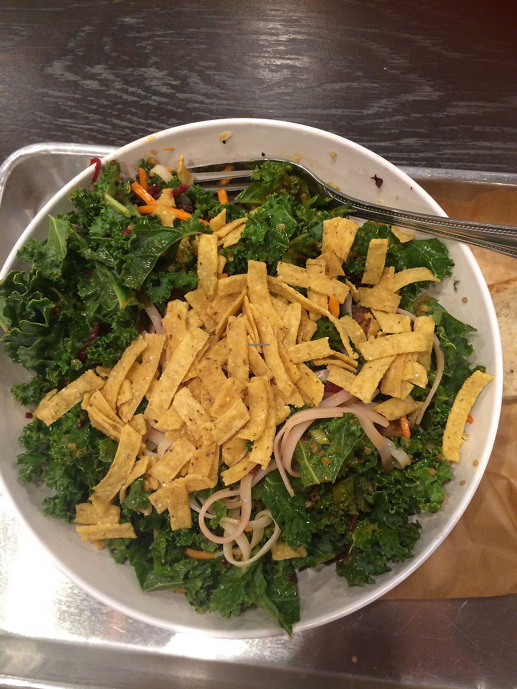 "Photo of CoreLife Eatery  by <a href=""/members/profile/fruitiJulie"">fruitiJulie</a> <br/>Vegan grain bowl mostly kale <br/> October 24, 2017  - <a href='/contact/abuse/image/90655/318364'>Report</a>"