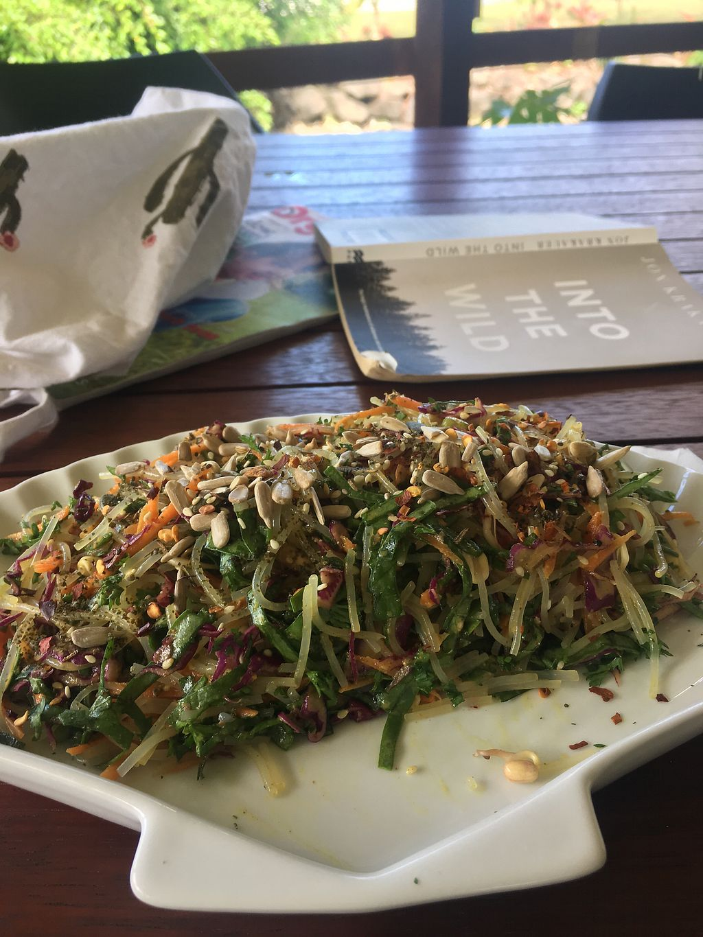 "Photo of Kaingavai Water Garden Tea House & Vegetarian Eatery  by <a href=""/members/profile/ru6ygrace"">ru6ygrace</a> <br/>Noodle salad  <br/> October 8, 2017  - <a href='/contact/abuse/image/90670/313004'>Report</a>"