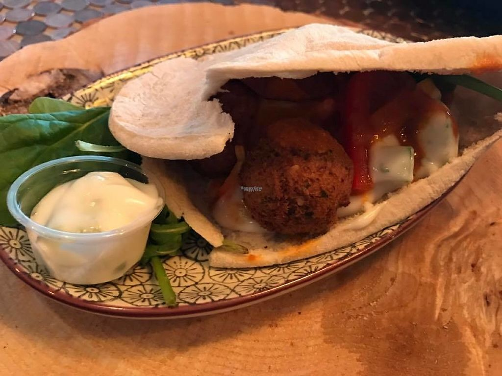 """Photo of Bohemia Yoga Cafe  by <a href=""""/members/profile/community5"""">community5</a> <br/>Vegan Falafel <br/> April 21, 2017  - <a href='/contact/abuse/image/90681/250629'>Report</a>"""