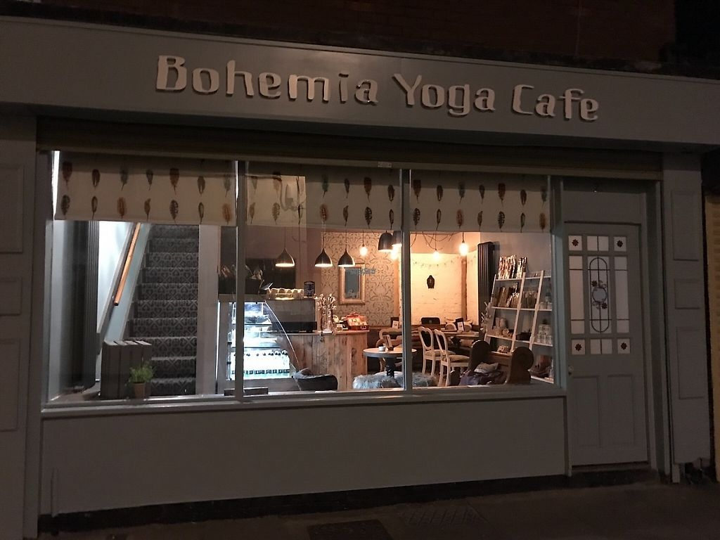 """Photo of Bohemia Yoga Cafe  by <a href=""""/members/profile/bohemiayogacafe"""">bohemiayogacafe</a> <br/>Bohemia Yoga Cafe at night <br/> April 30, 2017  - <a href='/contact/abuse/image/90681/254139'>Report</a>"""
