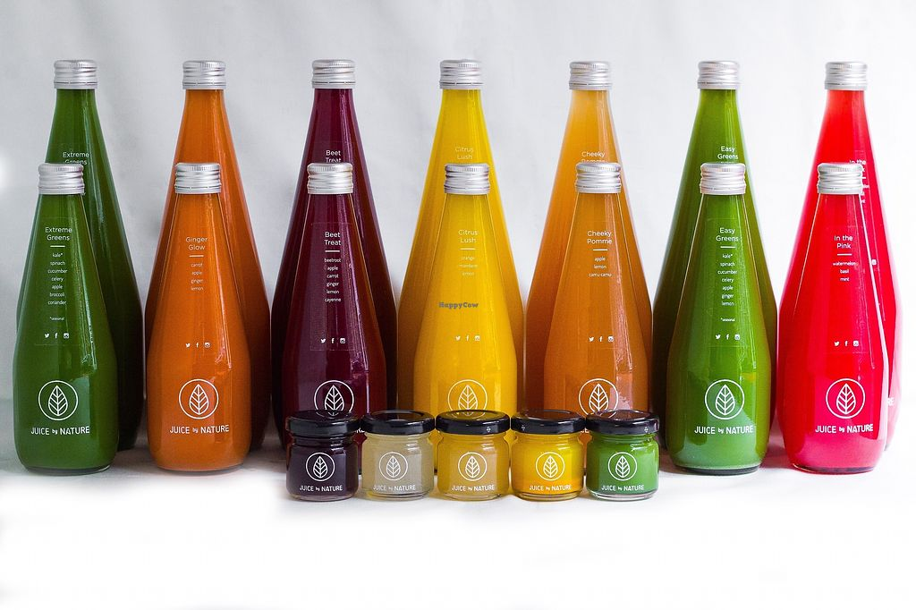 """Photo of Juice by Nature  by <a href=""""/members/profile/HelenTurner"""">HelenTurner</a> <br/>Variety of cold pressed juices <br/> January 29, 2018  - <a href='/contact/abuse/image/90750/352403'>Report</a>"""