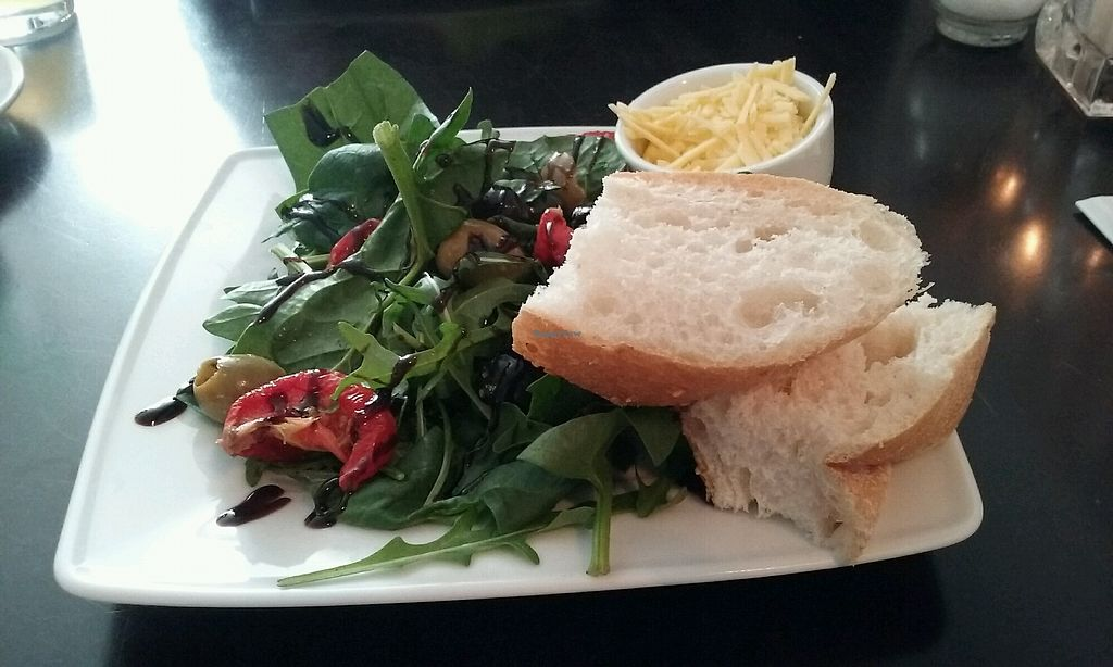 """Photo of Novecento  by <a href=""""/members/profile/deliaroza"""">deliaroza</a> <br/>Salad with vegan cheese <br/> April 19, 2018  - <a href='/contact/abuse/image/90768/388151'>Report</a>"""