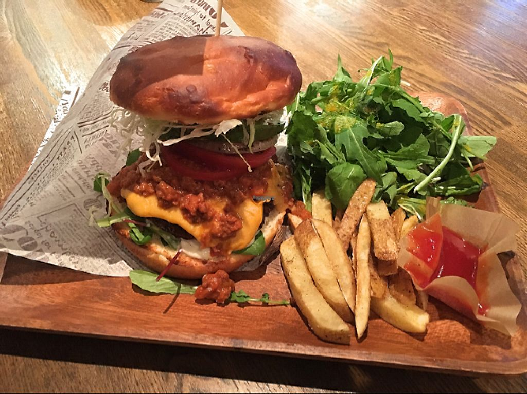 """Photo of Vegan Burg Kitchen  by <a href=""""/members/profile/Siboney"""">Siboney</a> <br/>The vegan burger set <br/> April 22, 2017  - <a href='/contact/abuse/image/90819/250756'>Report</a>"""