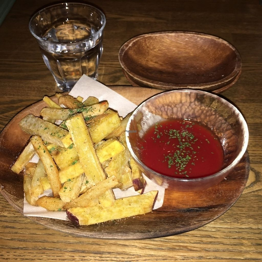 """Photo of Vegan Burg Kitchen  by <a href=""""/members/profile/the-W-life"""">the-W-life</a> <br/>Side order fries with tomato sauce <br/> April 25, 2017  - <a href='/contact/abuse/image/90819/252260'>Report</a>"""