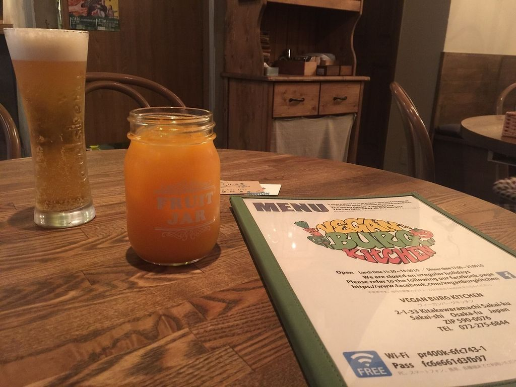 """Photo of Vegan Burg Kitchen  by <a href=""""/members/profile/Brieeeeayy"""">Brieeeeayy</a> <br/>Mandarin orange cocktail  <br/> June 15, 2017  - <a href='/contact/abuse/image/90819/269352'>Report</a>"""