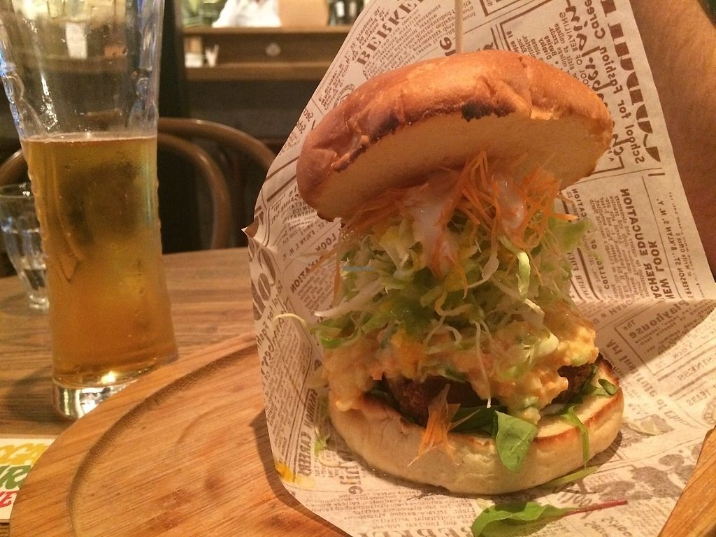 """Photo of Vegan Burg Kitchen  by <a href=""""/members/profile/Brieeeeayy"""">Brieeeeayy</a> <br/>Cuttlet burger  <br/> June 15, 2017  - <a href='/contact/abuse/image/90819/269354'>Report</a>"""