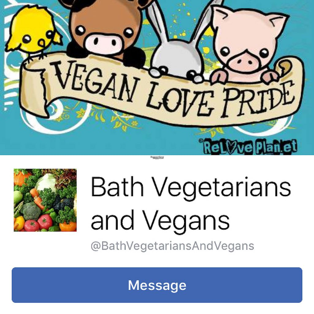 "Photo of Bath Vegetarians and Vegans  by <a href=""/members/profile/VeggieFromSpace"">VeggieFromSpace</a> <br/>their Facebook page <br/> April 22, 2017  - <a href='/contact/abuse/image/90835/250856'>Report</a>"