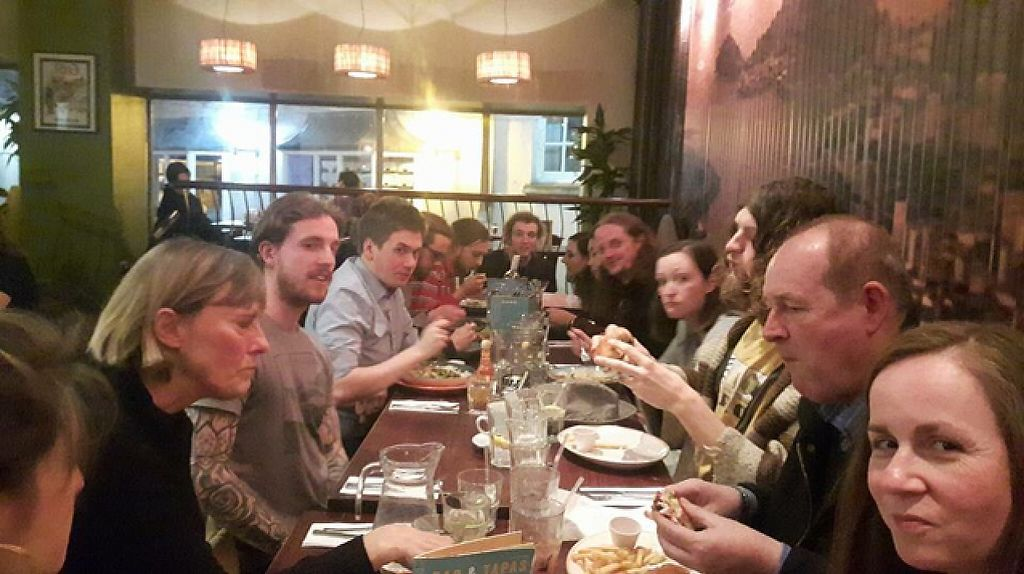 "Photo of Bath Vegetarians and Vegans  by <a href=""/members/profile/VeggieFromSpace"">VeggieFromSpace</a> <br/>big fat vegan dinner meet up bath <br/> April 22, 2017  - <a href='/contact/abuse/image/90835/250857'>Report</a>"