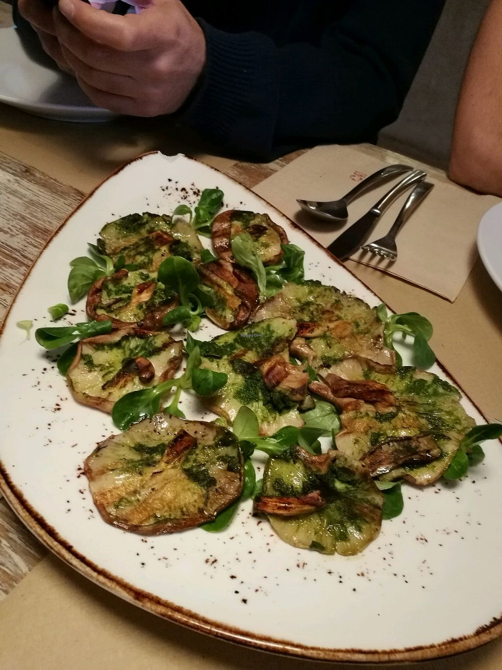 "Photo of La Casa Viva  by <a href=""/members/profile/akita"">akita</a> <br/>shiitake carpaccio <br/> January 3, 2018  - <a href='/contact/abuse/image/90845/342593'>Report</a>"