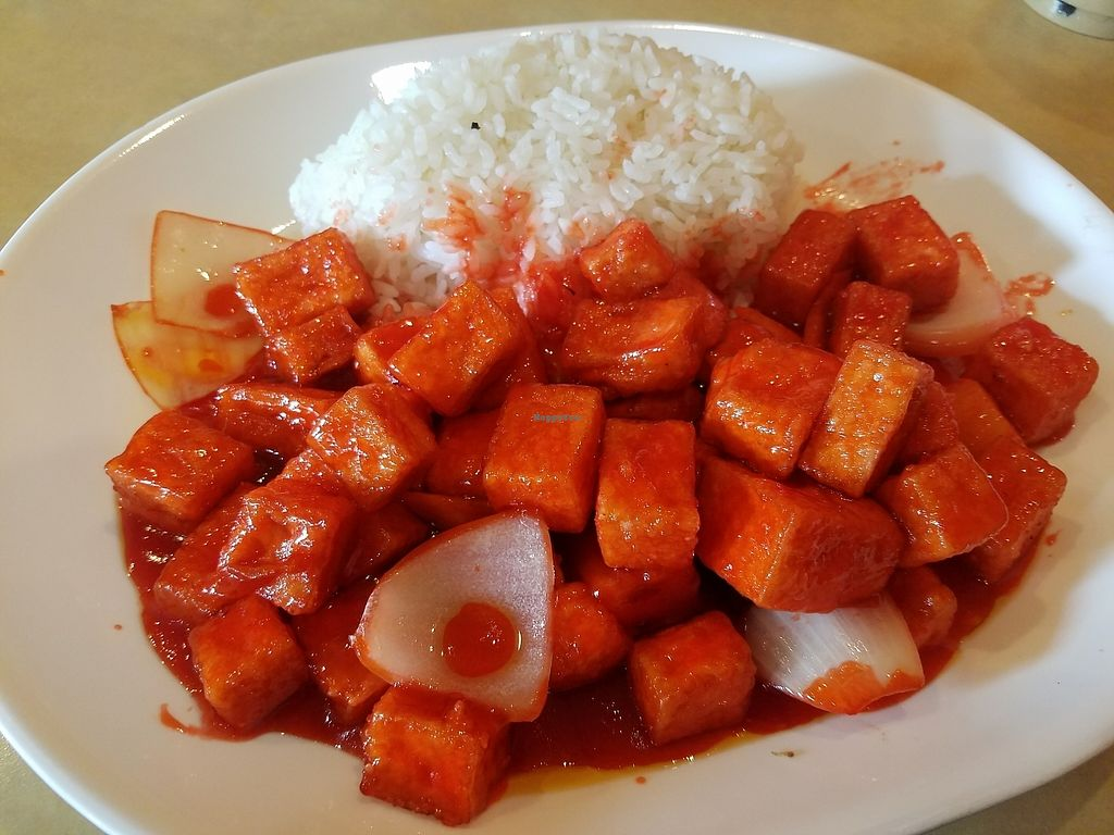 """Photo of CLOSED: Happy Teriyaki 4  by <a href=""""/members/profile/WilliamEverettMarti"""">WilliamEverettMarti</a> <br/>sweet and sour tofu! :)  <br/> September 9, 2017  - <a href='/contact/abuse/image/90876/302255'>Report</a>"""