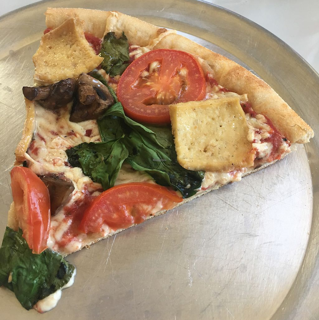 "Photo of Nags Head Pizza Company  by <a href=""/members/profile/nondairyqueen"">nondairyqueen</a> <br/>Haley's Comet vegan pizza  <br/> May 14, 2017  - <a href='/contact/abuse/image/90904/258790'>Report</a>"