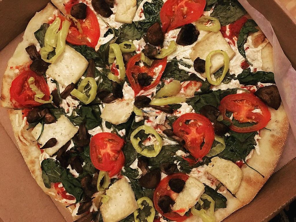 "Photo of Nags Head Pizza Company  by <a href=""/members/profile/VeganBohemian"">VeganBohemian</a> <br/>Haley's Comet Vegan Pizza <br/> December 3, 2017  - <a href='/contact/abuse/image/90904/332130'>Report</a>"