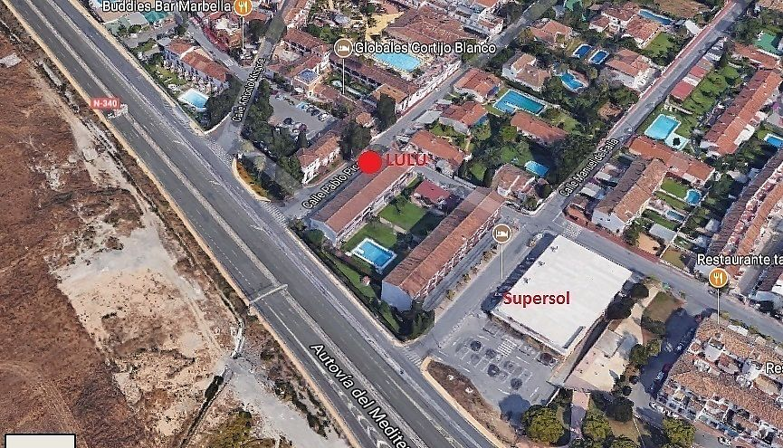 """Photo of El Rincon de Lulu  by <a href=""""/members/profile/pppanther"""">pppanther</a> <br/>Location of Lulu, next to Hotel Cortijo Blanco, close of Supersol <br/> August 2, 2017  - <a href='/contact/abuse/image/90907/287945'>Report</a>"""