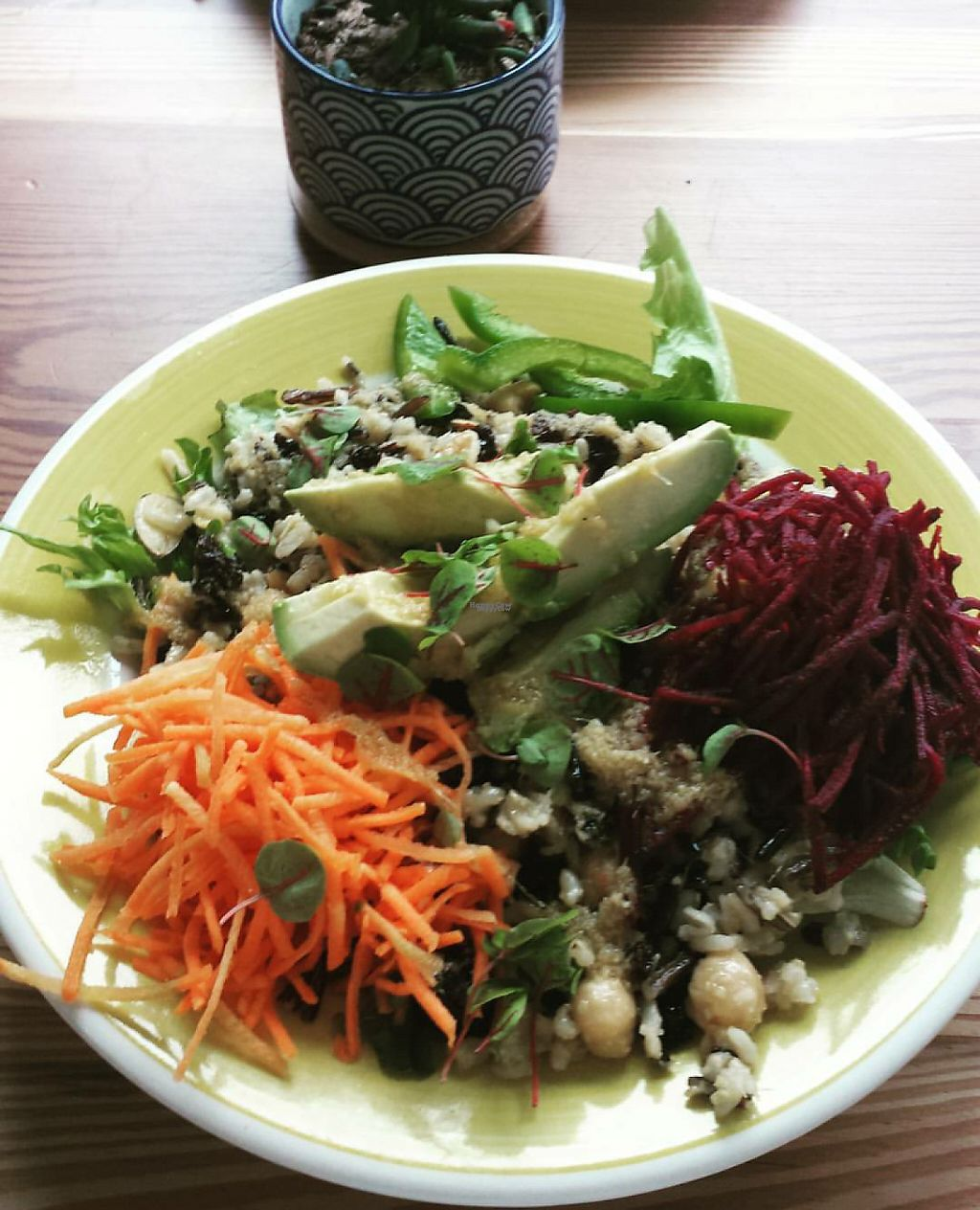 "Photo of The Daily Beet  by <a href=""/members/profile/vegbaker"">vegbaker</a> <br/>Rainbow bowl with wild rice instead of quinoa - So good! <br/> April 29, 2017  - <a href='/contact/abuse/image/90924/253734'>Report</a>"