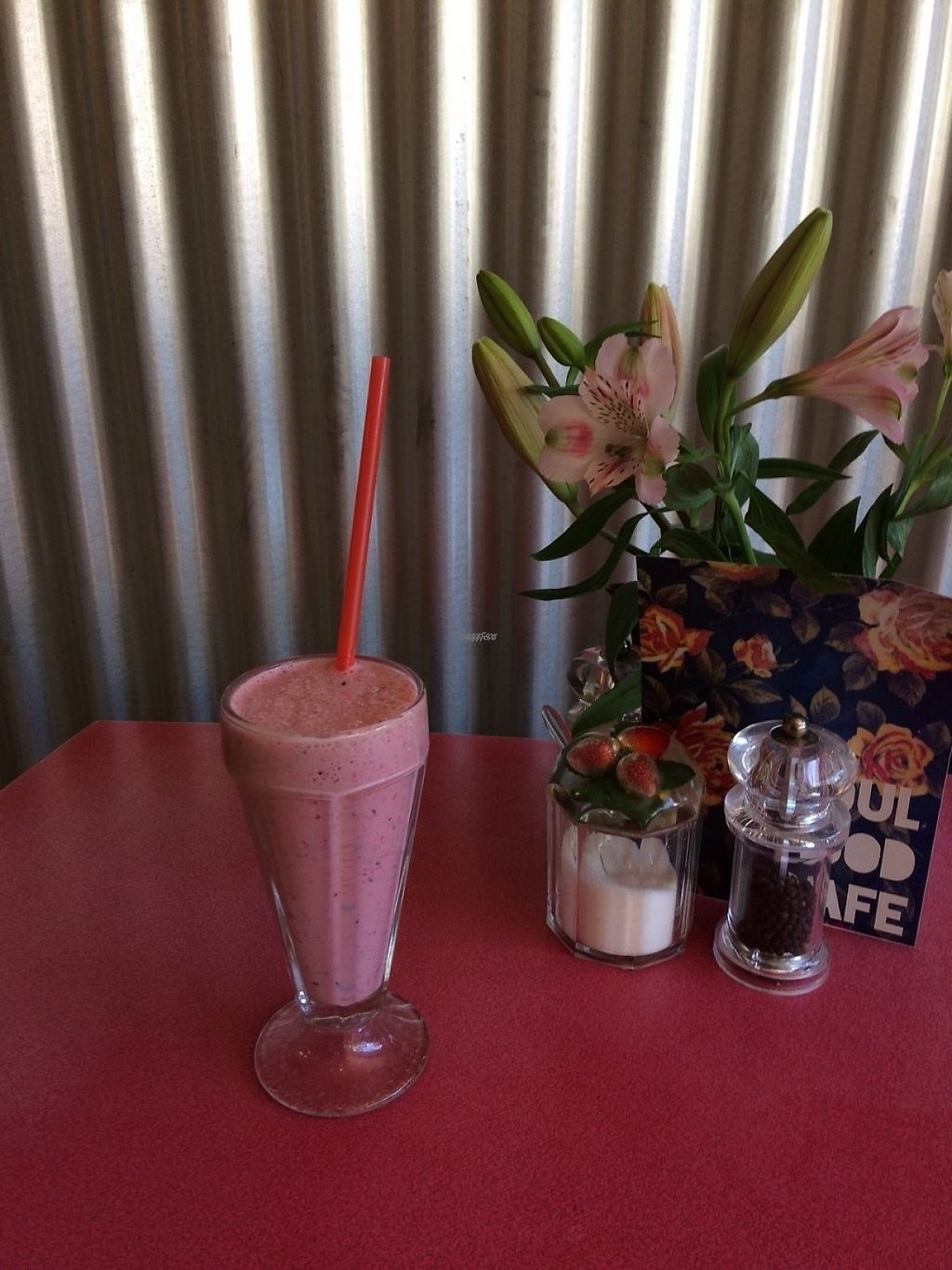 """Photo of Soul Food Cafe  by <a href=""""/members/profile/SandySmith"""">SandySmith</a> <br/>Vegan milkshakes are delicious  <br/> April 24, 2017  - <a href='/contact/abuse/image/90951/251890'>Report</a>"""