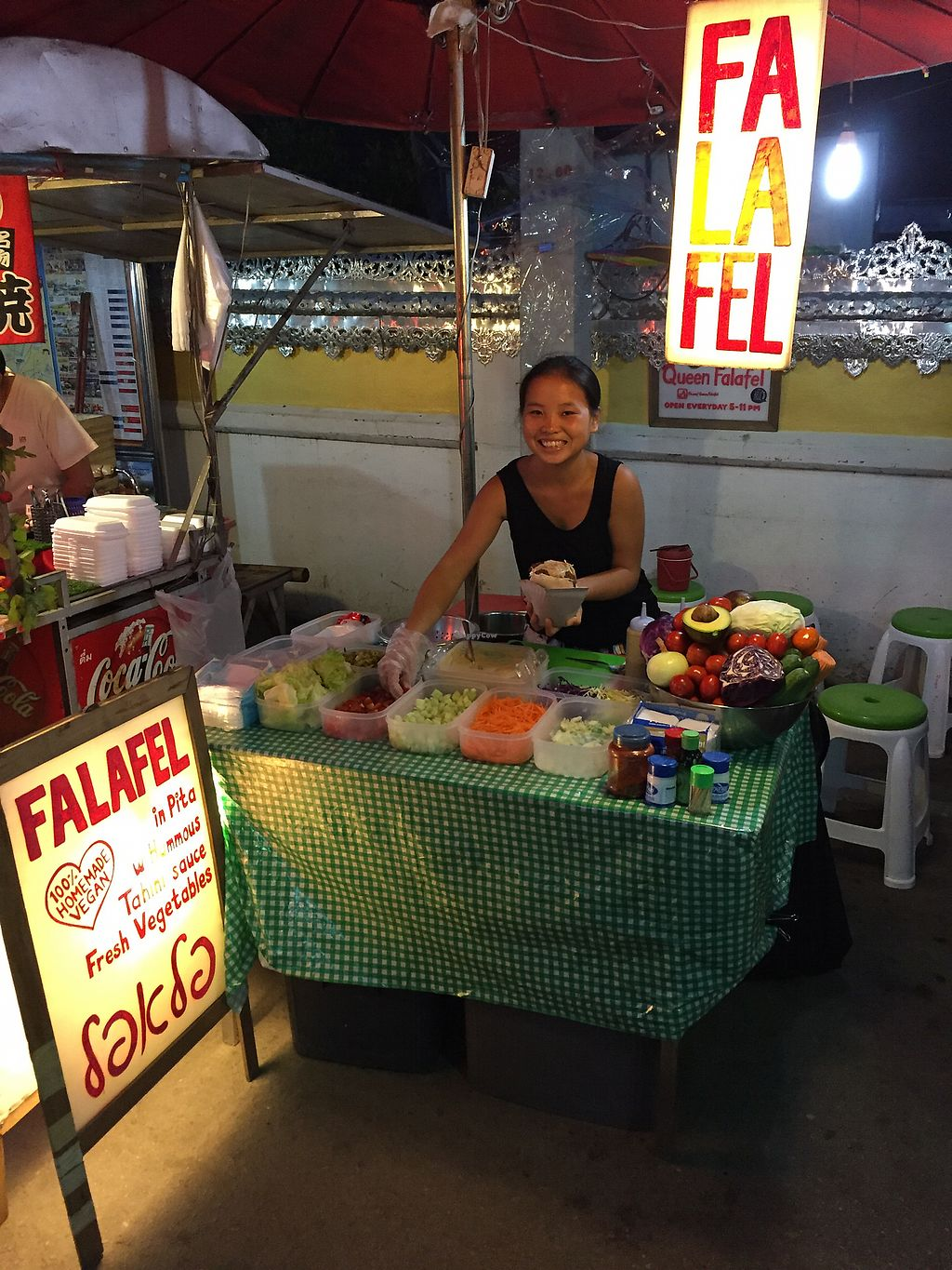 """Photo of Queen Falafel Food Cart  by <a href=""""/members/profile/mattieben"""">mattieben</a> <br/>The place to be! <br/> August 14, 2017  - <a href='/contact/abuse/image/90954/292654'>Report</a>"""