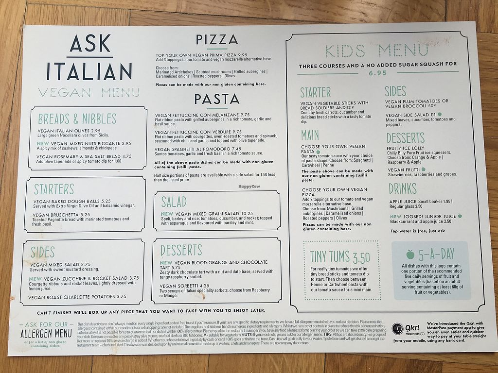 """Photo of Ask Italian  by <a href=""""/members/profile/snubnog"""">snubnog</a> <br/>Separate vegan food menu 14th Sep 2017 <br/> September 14, 2017  - <a href='/contact/abuse/image/90956/304355'>Report</a>"""