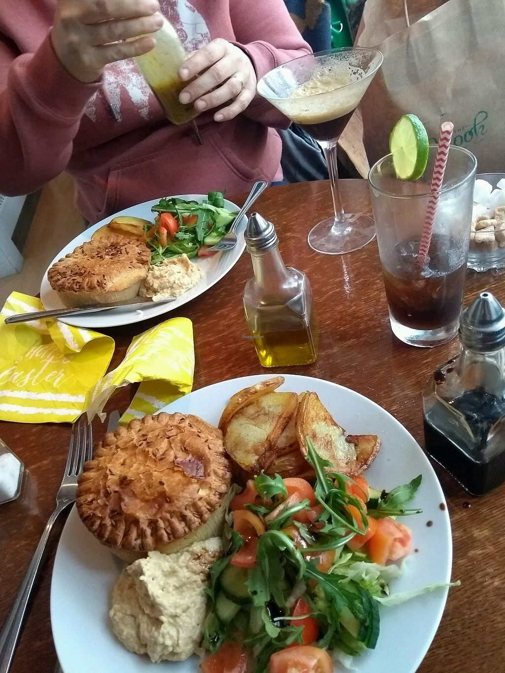 "Photo of The Fuchsia Caffe  by <a href=""/members/profile/Redheidi749"">Redheidi749</a> <br/>coronation pie, with Sautéed potatoes and salad. Martini expresso and cuba libre <br/> March 31, 2018  - <a href='/contact/abuse/image/90966/378988'>Report</a>"