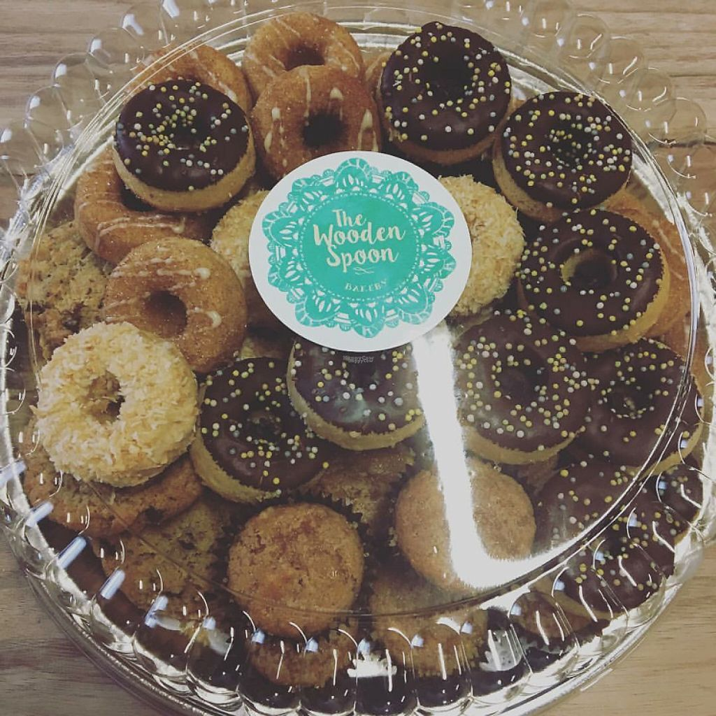 """Photo of Aziz Fruitstand   by <a href=""""/members/profile/Jessica.aziz"""">Jessica.aziz</a> <br/>assorted mini donuts, Apple cinnamon muffins  <br/> April 24, 2017  - <a href='/contact/abuse/image/90991/251774'>Report</a>"""