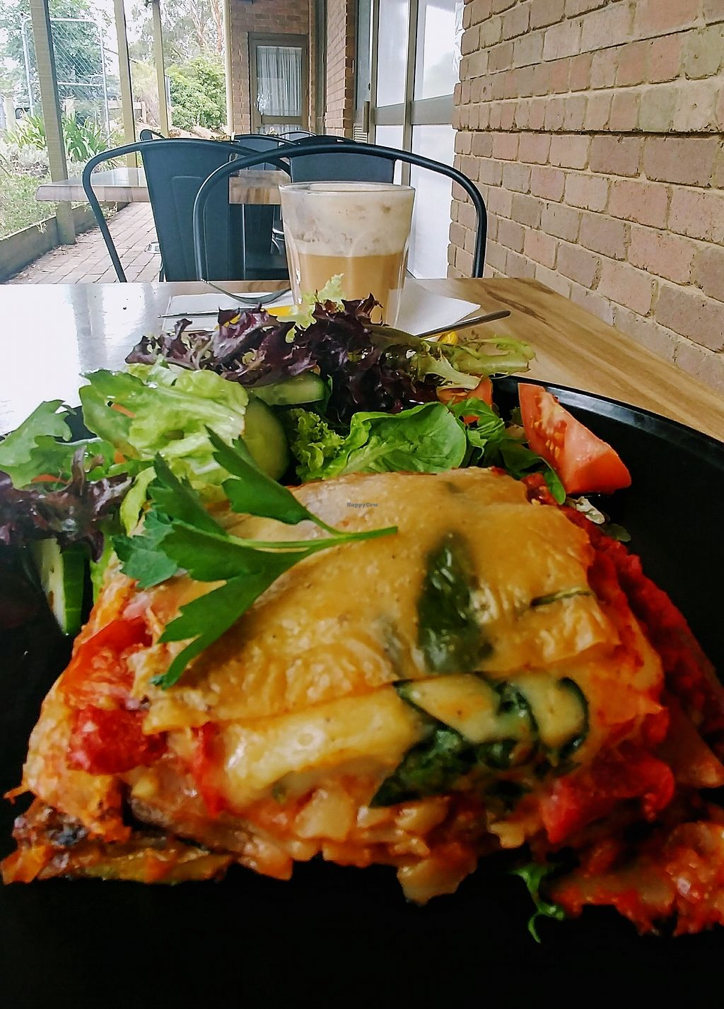 """Photo of Boots & Barley  by <a href=""""/members/profile/karlaess"""">karlaess</a> <br/>Vegan lasagne <br/> December 31, 2017  - <a href='/contact/abuse/image/91000/341294'>Report</a>"""