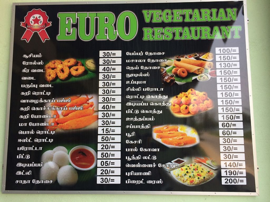 """Photo of Euro Vegetarian Restaurant  by <a href=""""/members/profile/Ruderies16"""">Ruderies16</a> <br/>no English menu, but English spoken by staff <br/> April 24, 2017  - <a href='/contact/abuse/image/91007/252131'>Report</a>"""