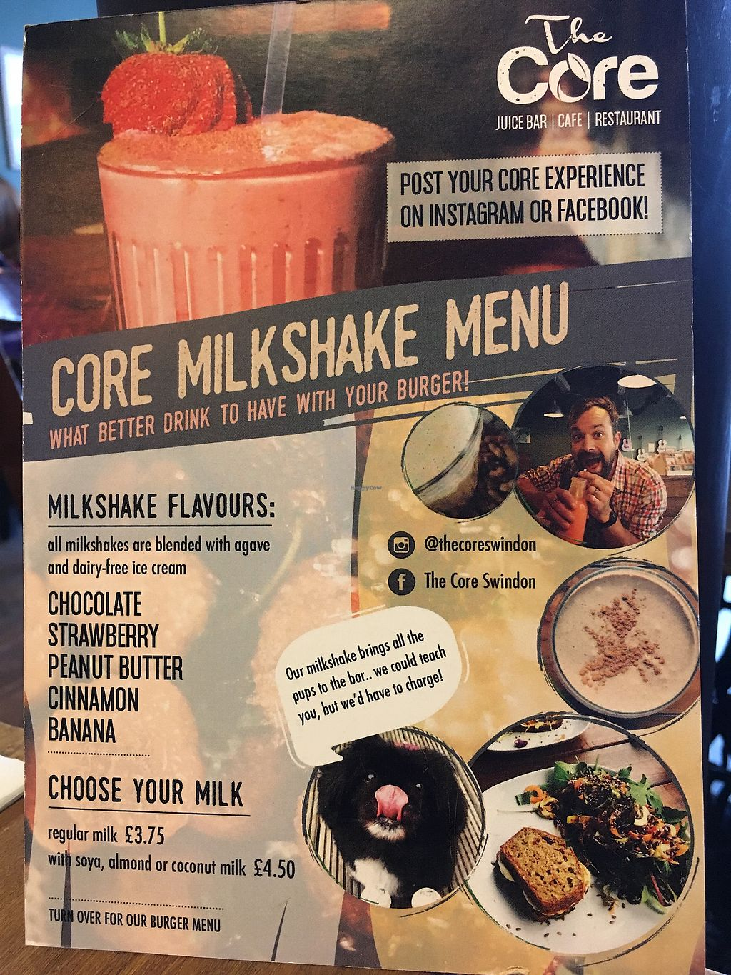 "Photo of The Core  by <a href=""/members/profile/radiocaz"">radiocaz</a> <br/>Milkshake menu - vegans penalised! <br/> December 23, 2017  - <a href='/contact/abuse/image/91024/338346'>Report</a>"