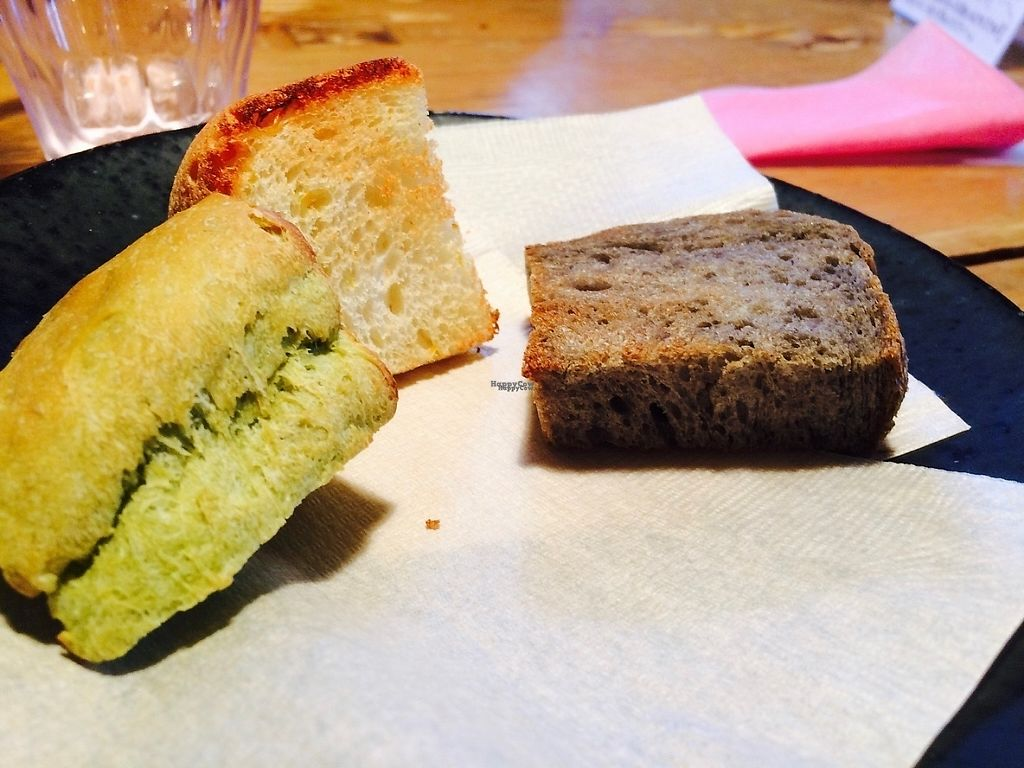"""Photo of Cafe Fleur  by <a href=""""/members/profile/proximateplatypus"""">proximateplatypus</a> <br/>Breads - vegetarian (black sesame bread is vegan) <br/> April 27, 2017  - <a href='/contact/abuse/image/91025/252914'>Report</a>"""