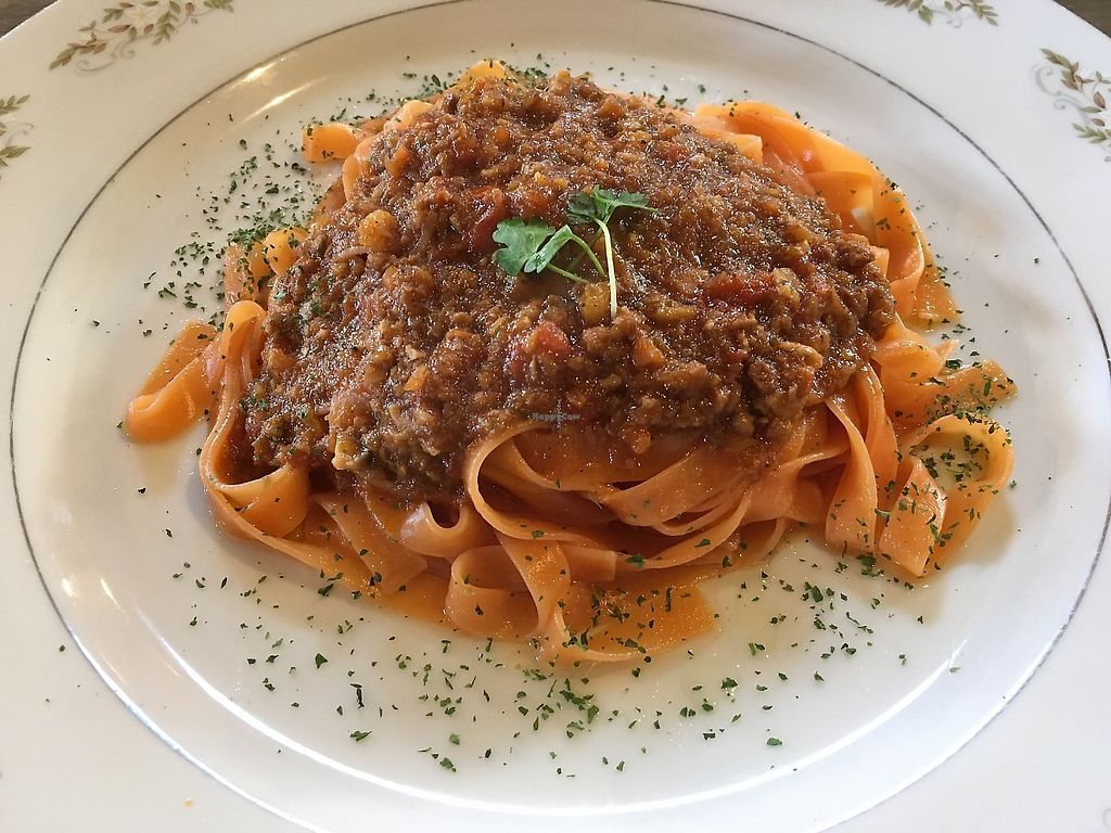 """Photo of Cafe Fleur  by <a href=""""/members/profile/FruitMonstar"""">FruitMonstar</a> <br/>Tomato based pasta <br/> February 4, 2018  - <a href='/contact/abuse/image/91025/356776'>Report</a>"""