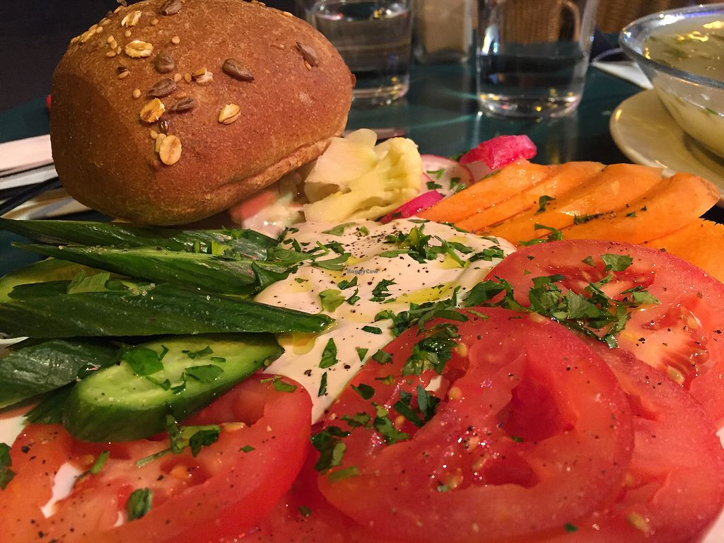 "Photo of Cafè Bastet  by <a href=""/members/profile/SabrinaFreire"">SabrinaFreire</a> <br/>Tahini, bread and salad <br/> December 22, 2017  - <a href='/contact/abuse/image/91030/338155'>Report</a>"