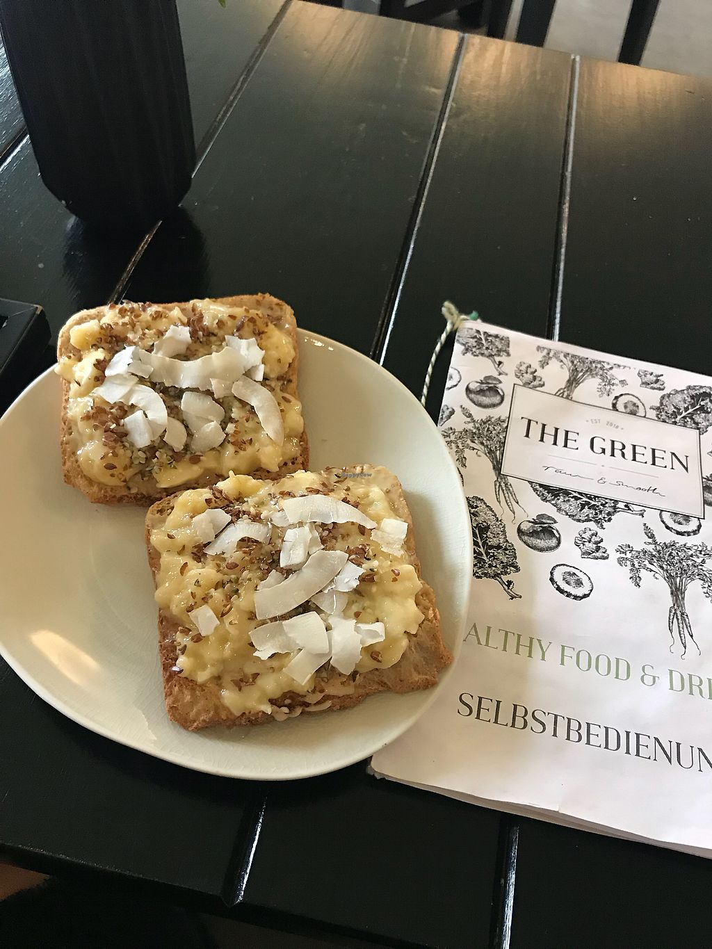 """Photo of THE GREEN  by <a href=""""/members/profile/KatyWilliams"""">KatyWilliams</a> <br/>Tasty banana toast  <br/> November 20, 2017  - <a href='/contact/abuse/image/91039/327453'>Report</a>"""
