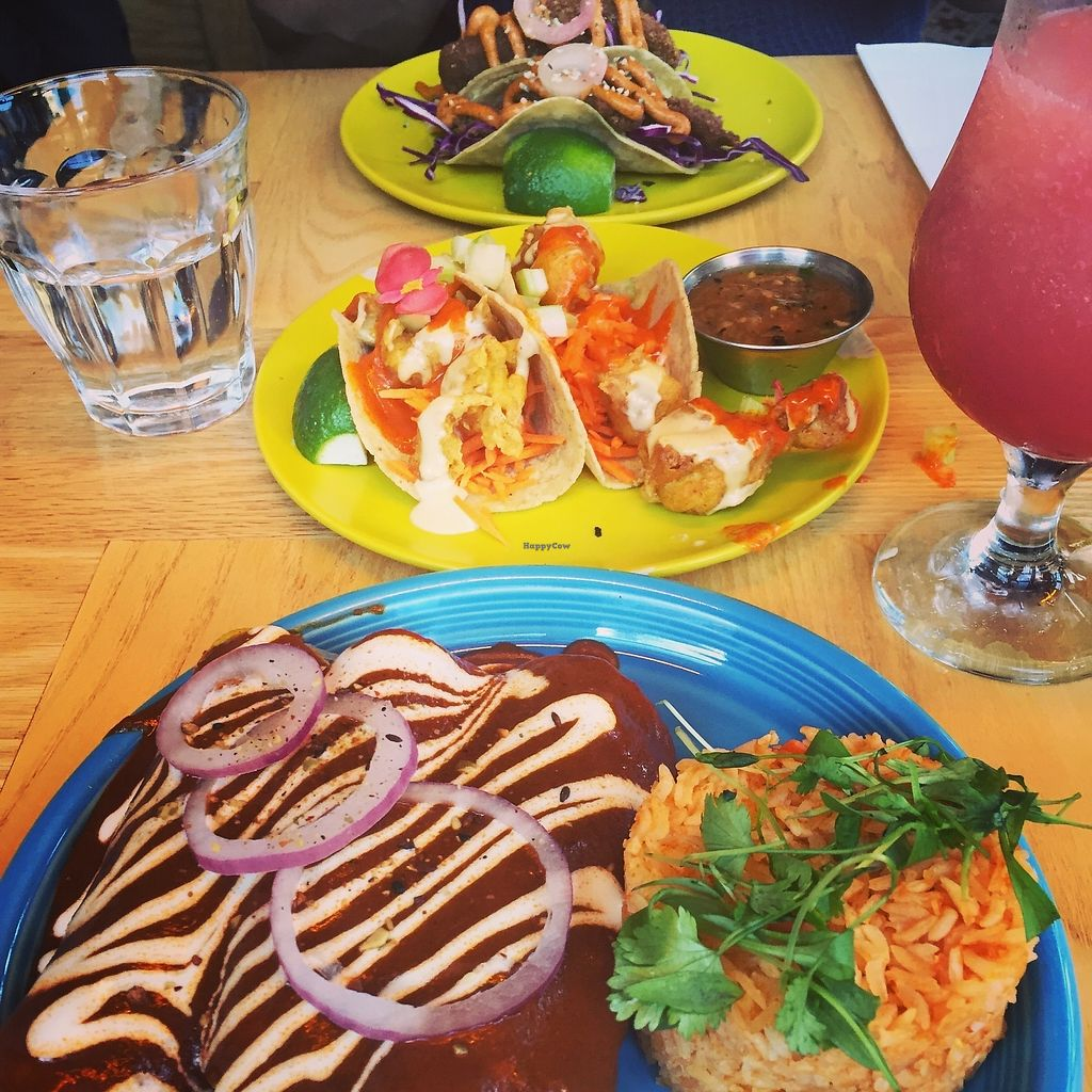 "Photo of Jajaja  by <a href=""/members/profile/kmanchester306"">kmanchester306</a> <br/>mole enchiladas, buffalo tacos, fish tacos <br/> November 26, 2017  - <a href='/contact/abuse/image/91051/329257'>Report</a>"