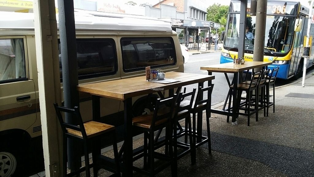 """Photo of Be Bold Nundah  by <a href=""""/members/profile/Mike%20Munsie"""">Mike Munsie</a> <br/>outside seating <br/> April 26, 2017  - <a href='/contact/abuse/image/91054/252515'>Report</a>"""