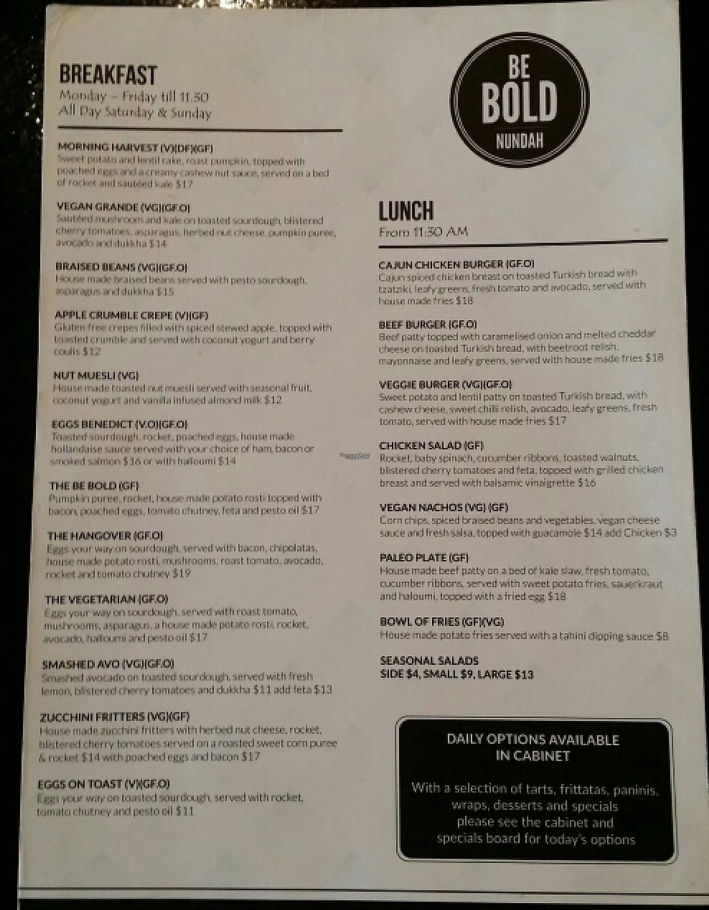 """Photo of Be Bold Nundah  by <a href=""""/members/profile/Mike%20Munsie"""">Mike Munsie</a> <br/>menu <br/> April 26, 2017  - <a href='/contact/abuse/image/91054/252519'>Report</a>"""