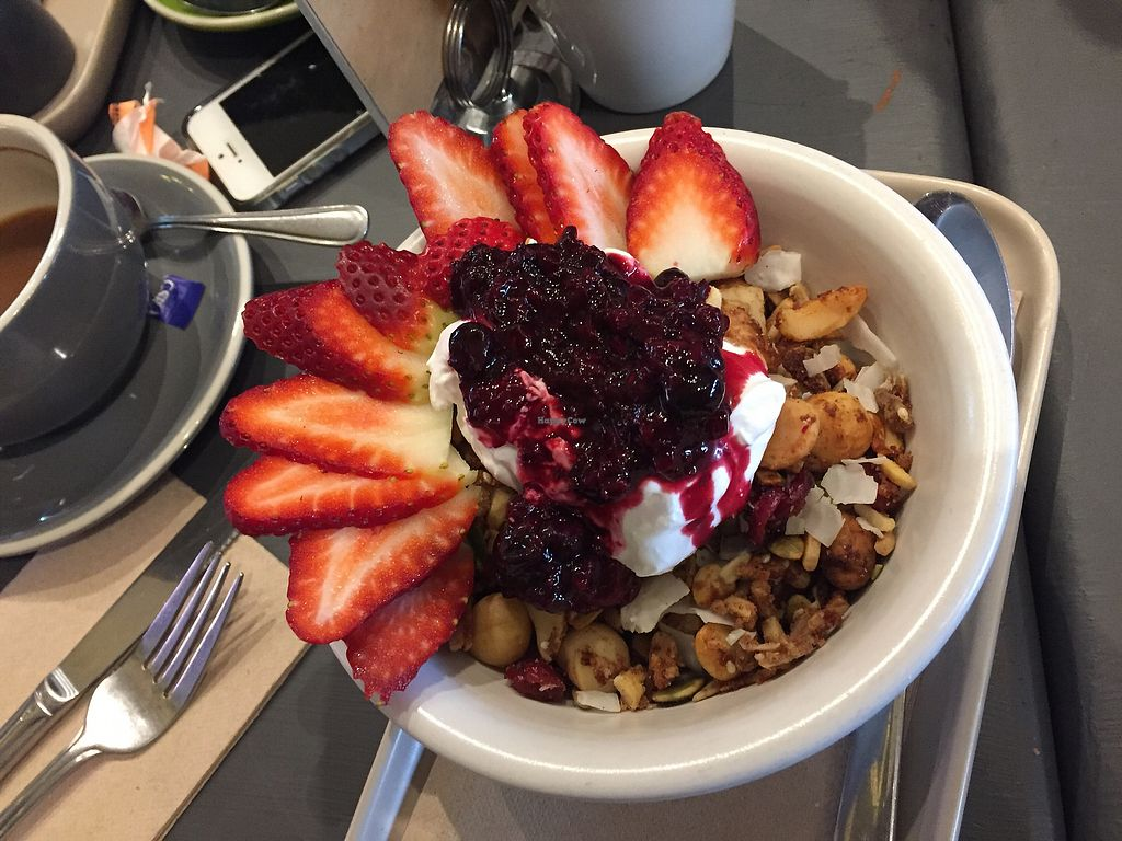 """Photo of Be Bold Nundah  by <a href=""""/members/profile/alexds"""">alexds</a> <br/>granola with coconut yogurt  and fruit - all vegan breakfast  <br/> July 18, 2017  - <a href='/contact/abuse/image/91054/281685'>Report</a>"""