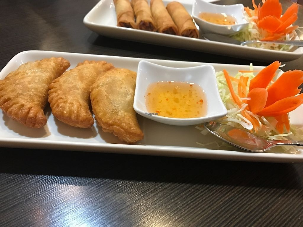 """Photo of La's Thai Cuisine  by <a href=""""/members/profile/Tigra220"""">Tigra220</a> <br/>Curry Puffs <br/> April 25, 2017  - <a href='/contact/abuse/image/91057/252461'>Report</a>"""