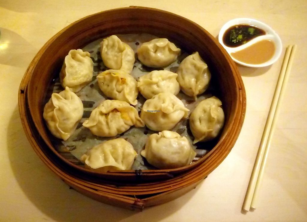"""Photo of MeiWei  by <a href=""""/members/profile/heuschrecke"""">heuschrecke</a> <br/>Both vegan dumpling versions, soy cilantro sauce and peanut sauce <br/> November 4, 2017  - <a href='/contact/abuse/image/91064/321802'>Report</a>"""