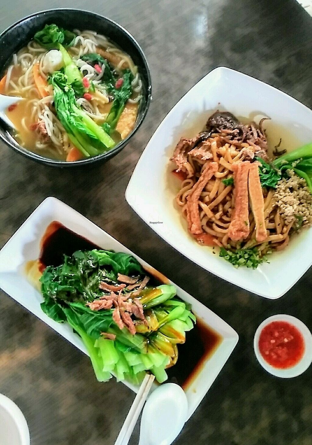 """Photo of Rice House  by <a href=""""/members/profile/taro1000"""">taro1000</a> <br/>energy noodle soup, basil mushroom noodle & green veg <br/> January 27, 2018  - <a href='/contact/abuse/image/9109/351392'>Report</a>"""