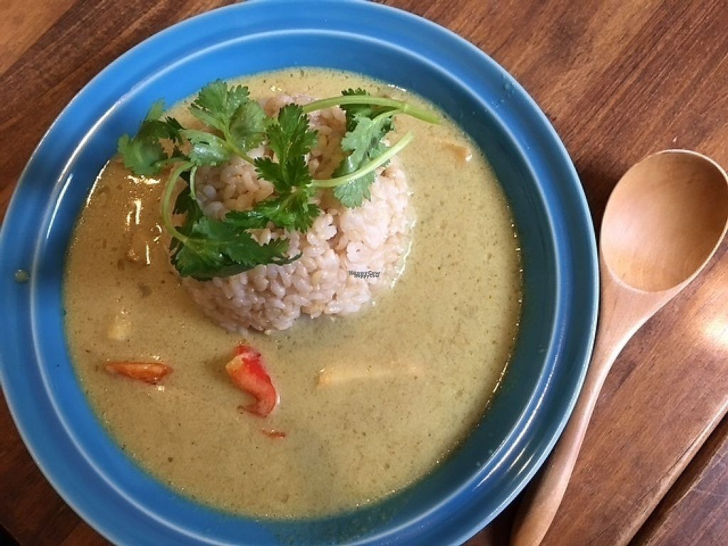 "Photo of Cafe Loop  by <a href=""/members/profile/VeganDietGuy"">VeganDietGuy</a> <br/>Thai green curry with bamboo shoots (seasonal) <br/> April 27, 2017  - <a href='/contact/abuse/image/91105/253032'>Report</a>"