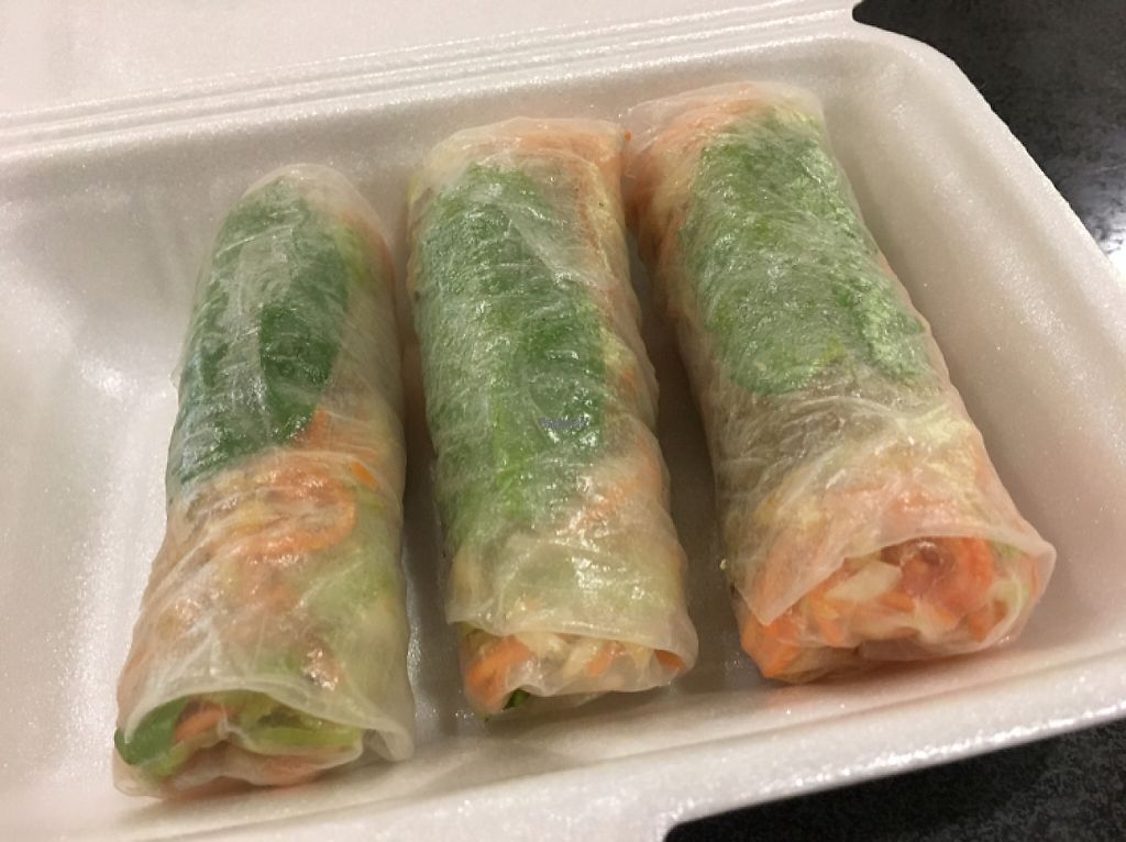 "Photo of Ponsonby Food Court  by <a href=""/members/profile/Yolanda"">Yolanda</a> <br/>vegan fresh spring rolls from the Vietnamese food stall  <br/> April 29, 2017  - <a href='/contact/abuse/image/91106/253655'>Report</a>"