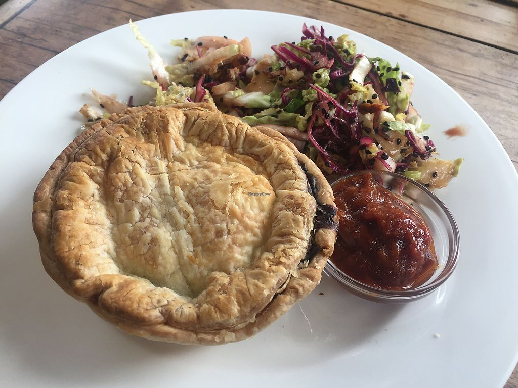 "Photo of Friends of the Earth Cafe  by <a href=""/members/profile/Tiggy"">Tiggy</a> <br/>Vegan pie and salad <br/> September 3, 2017  - <a href='/contact/abuse/image/9110/300295'>Report</a>"