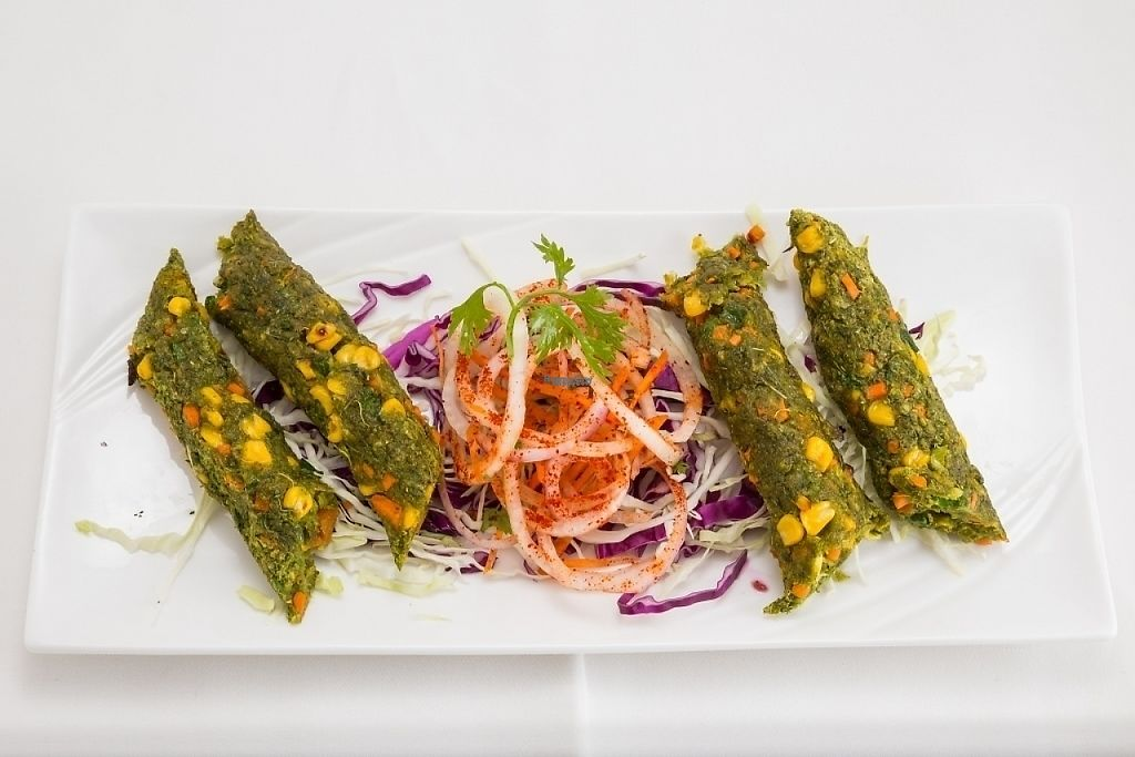 "Photo of Indian Hut  by <a href=""/members/profile/indianhut2016"">indianhut2016</a> <br/>Minced green vegetables flavored with fresh herbs and spices grilled on skewers <br/> April 28, 2017  - <a href='/contact/abuse/image/91111/253345'>Report</a>"