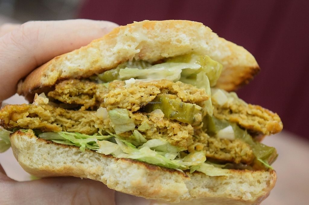 """Photo of Istvanffi Veggie Burger - Downtown  by <a href=""""/members/profile/Muscha"""">Muscha</a> <br/>loving it! <br/> December 14, 2017  - <a href='/contact/abuse/image/91118/335415'>Report</a>"""