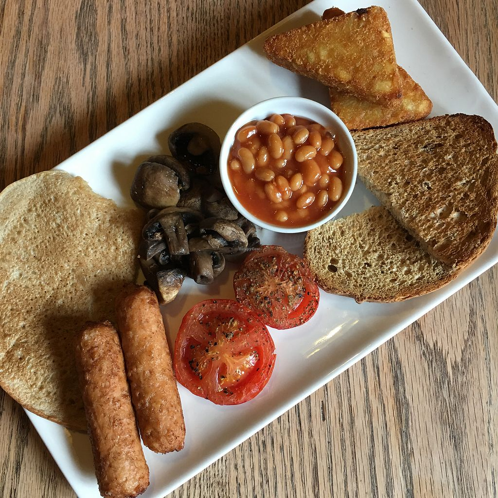 "Photo of The Peak Hotel  by <a href=""/members/profile/ErinLewis"">ErinLewis</a> <br/>vegan full derbyshire breakfast! £6.95  <br/> September 9, 2017  - <a href='/contact/abuse/image/91119/302378'>Report</a>"