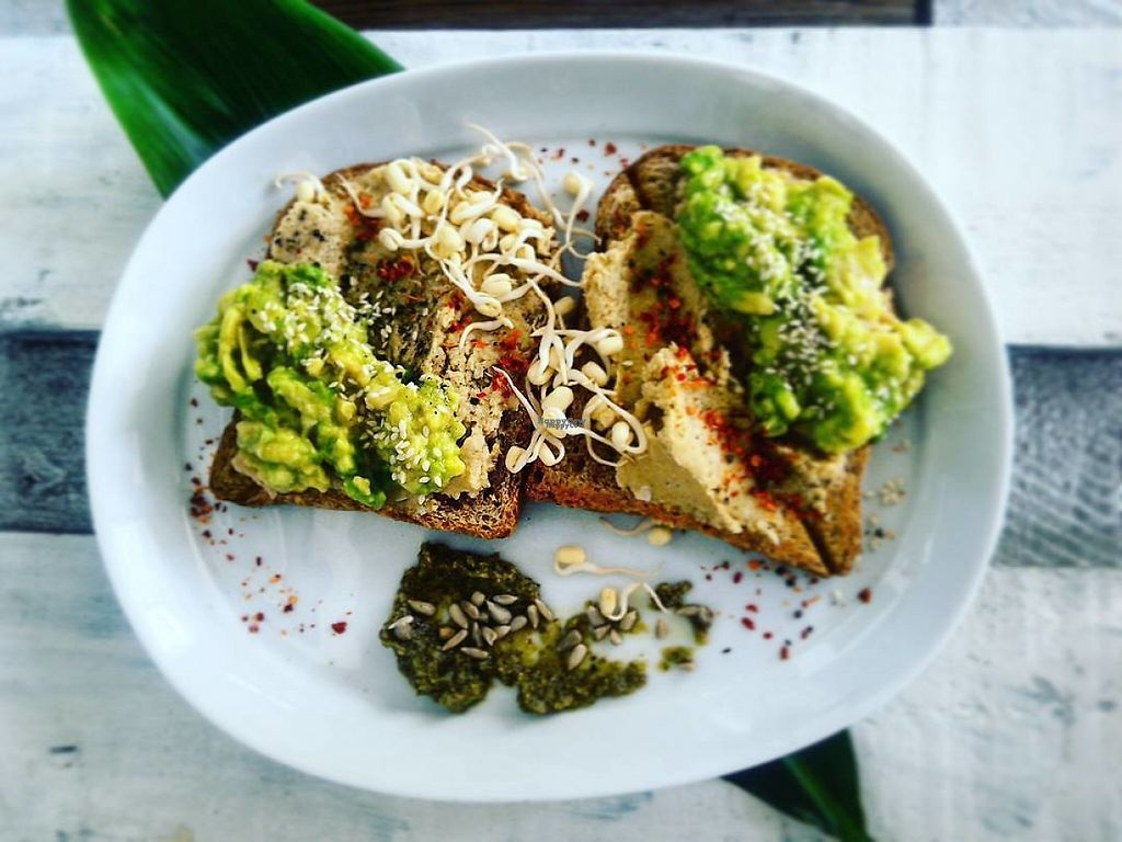 """Photo of Aloha Coffee Gallery  by <a href=""""/members/profile/community5"""">community5</a> <br/>Avocado & Hummus Toast <br/> April 26, 2017  - <a href='/contact/abuse/image/91130/252761'>Report</a>"""