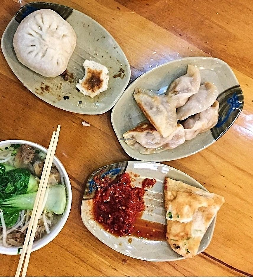 """Photo of Mei Yu Spring Restaurant  by <a href=""""/members/profile/NYCveganguide"""">NYCveganguide</a> <br/>steamed veggie dumplings 8 for $3 <br/> August 27, 2017  - <a href='/contact/abuse/image/91151/297923'>Report</a>"""