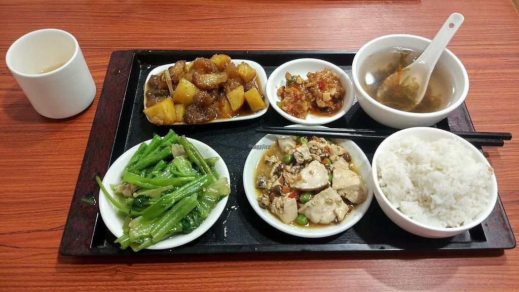 "Photo of HeYa Penglai Vegetarian Restaurant  by <a href=""/members/profile/ultm8"">ultm8</a> <br/>Lizhirou cao tan / litchi friend mock meat dinner set <br/> April 28, 2017  - <a href='/contact/abuse/image/91164/253303'>Report</a>"
