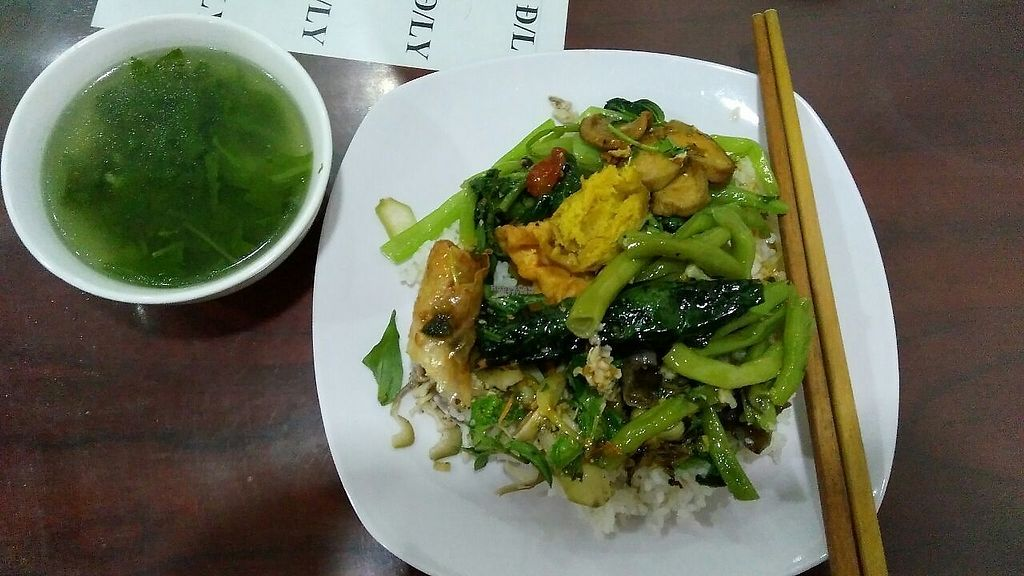 """Photo of Giac Ngo  by <a href=""""/members/profile/Hanna.Flovers"""">Hanna.Flovers</a> <br/>Portion of rice with vegetables <br/> April 28, 2017  - <a href='/contact/abuse/image/91187/253290'>Report</a>"""