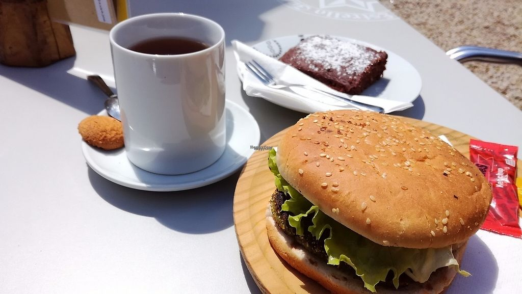 """Photo of Los Andantes  by <a href=""""/members/profile/LinaDargien%C4%97"""">LinaDargienė</a> <br/>Veggie burger and zucchini brownie :) <br/> April 28, 2017  - <a href='/contact/abuse/image/91214/253543'>Report</a>"""